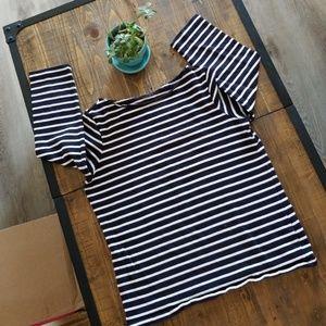 🐳Lands End striped